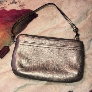 Coach Leather Wallet Wristlet Excellent Condition